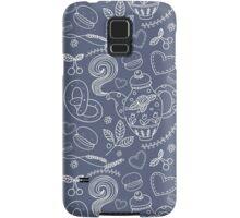 Tea party vector seamless pattern Samsung Galaxy Case/Skin