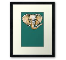 Floating Elephant Head - colorized Framed Print