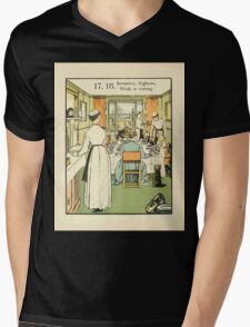 The Buckle My Shoe Picture Book by Walter Crane 1910 28 - Seventeen Eighteen Maids in Waiting Mens V-Neck T-Shirt