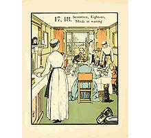 The Buckle My Shoe Picture Book by Walter Crane 1910 28 - Seventeen Eighteen Maids in Waiting Photographic Print