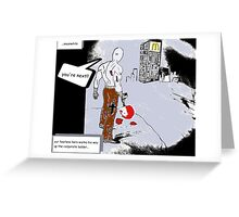 working your way up the corporate ladder Greeting Card