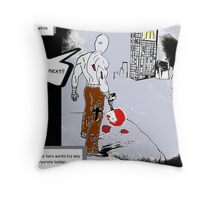 working your way up the corporate ladder Throw Pillow