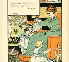 The Buckle My Shoe Picture Book by Walter Crane 1910 66 - Who Dress'd My Doll in Clothes So Gay by wetdryvac