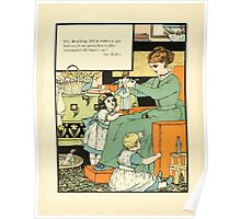 The Buckle My Shoe Picture Book by Walter Crane 1910 66 - Who Dress'd My Doll in Clothes So Gay Poster