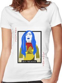 Ryn Weaver - The Fool Playing Card Women's Fitted V-Neck T-Shirt