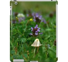 Mushroom purple flower nature by Carol Sue iPad Case/Skin