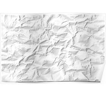 Paper crumpled Poster