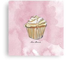 Feather Cupcake Canvas Print
