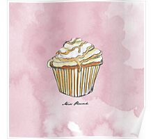 Feather Cupcake Poster