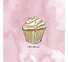Feather Cupcake Photographic Print