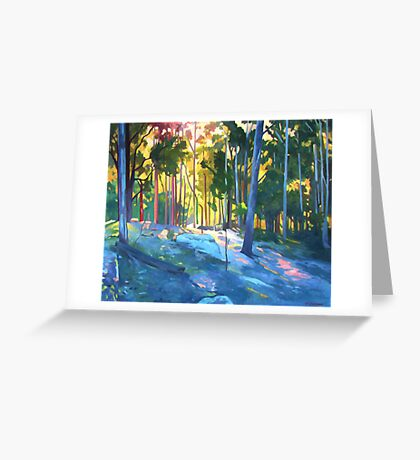 Sunlight through trees Greeting Card