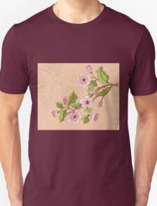Colored Sketch of Sakura Branch 2 Unisex T-Shirt