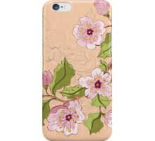 Colored Sketch of Sakura Branch 2 iPhone Case/Skin
