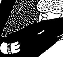 wolfstar (black&white) Sticker