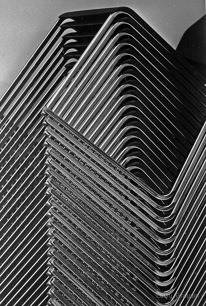 Stacked chairs by Larry  Grayam