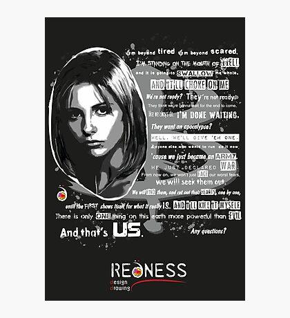 Buffy speech Photographic Print