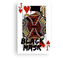 Black mask. Canvas Print