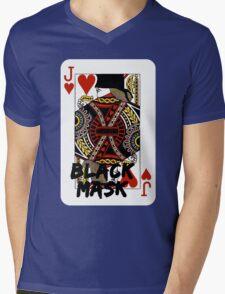 Black mask. Mens V-Neck T-Shirt