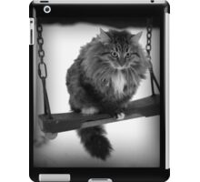 Сat on swing iPad Case/Skin