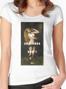 My Anaconda Don't Want None Unless You Got Buns Hun Women's Fitted Scoop T-Shirt