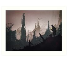 The traveller Art Print