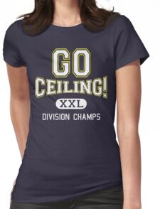 "Funny Halloween Costume (""Ceiling Fan"") Womens Fitted T-Shirt"