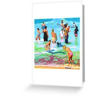 Beach Bathers Greeting Card
