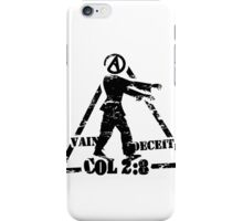 Colossians 2:8  the ATHEIST ZOMBIE iPhone Case/Skin