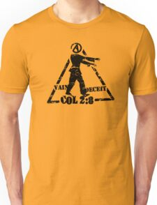 Colossians 2:8  the ATHEIST ZOMBIE Unisex T-Shirt