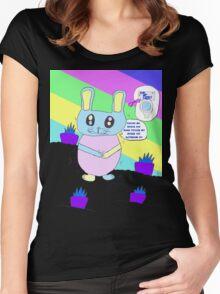 Rabbit Gotta Go Women's Fitted Scoop T-Shirt