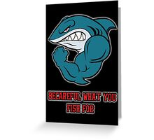 Angry Shark Tshirt Greeting Card