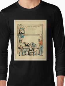 The Buckle My Shoe Picture Book by Walter Crane 1910 47 - Six Joiners in the Joiner's Hall Long Sleeve T-Shirt