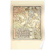 Queen Summer, or, The Tourney of the Lilly and the Rose by Walter Crane 1891 27 - Like a cloud of morn they bore Poster
