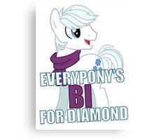 Everypony's Bi For Diamond Canvas Print