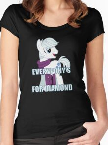 Everypony's Bi For Double Diamond - MLP FiM - Brony Women's Fitted Scoop T-Shirt