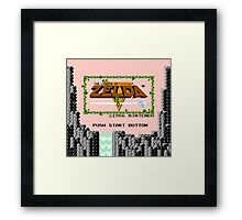 Legend of Zelda: Start Screen Framed Print