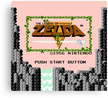 Legend of Zelda: Start Screen Canvas Print