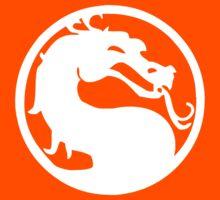 Mortal Dragon (White) Kids Tee