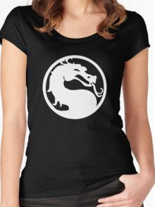 Mortal Dragon (White) Women's Fitted Scoop T-Shirt