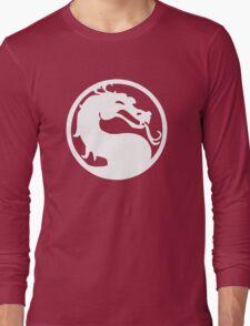 Mortal Dragon (White) Long Sleeve T-Shirt