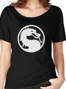 Mortal Dragon (White) Women's Relaxed Fit T-Shirt