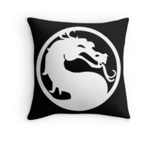 Mortal Dragon (White) Throw Pillow
