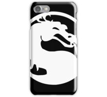 Mortal Dragon (White) iPhone Case/Skin