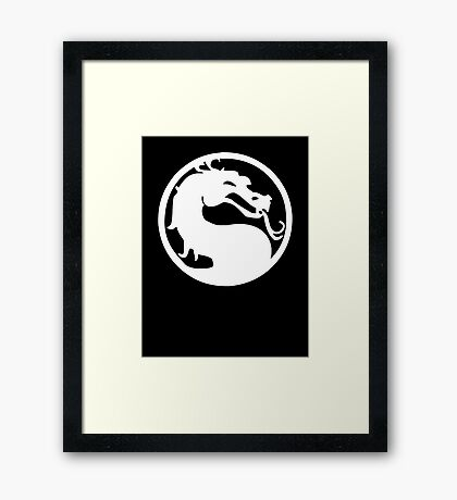 Mortal Dragon (White) Framed Print