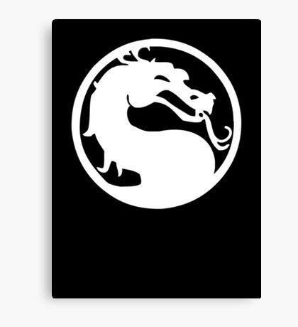 Mortal Dragon (White) Canvas Print