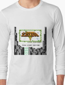 Legend of Zelda: Start Screen Long Sleeve T-Shirt