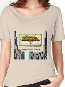Legend of Zelda: Start Screen Women's Relaxed Fit T-Shirt