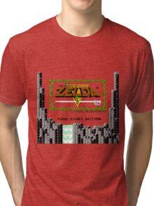 Legend of Zelda: Start Screen Tri-blend T-Shirt