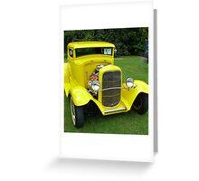 Ole Yella... memories........... 1931 Ford... Greeting Card
