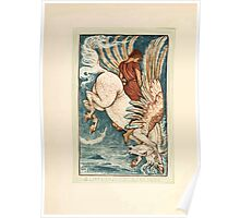 A Wonder Book for Girls and Boys by Nathaniel Hawthorne illustrated by Walter Crane 12 - Bellerophon on Pegasus Poster